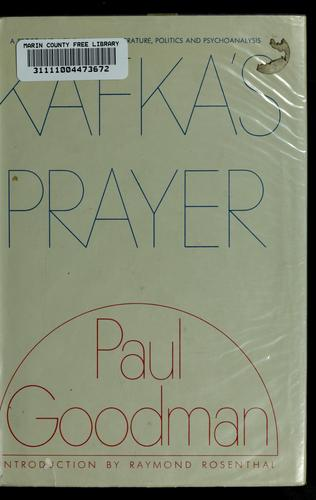 Kafka's prayer