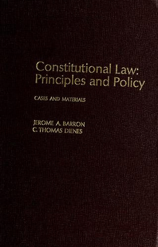 Download Constitutional law, principles and policy