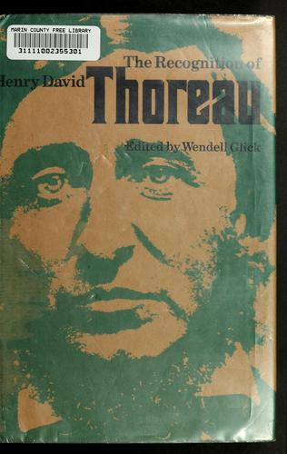 Download The recognition of Henry David Thoreau