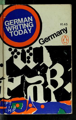 German writing today.
