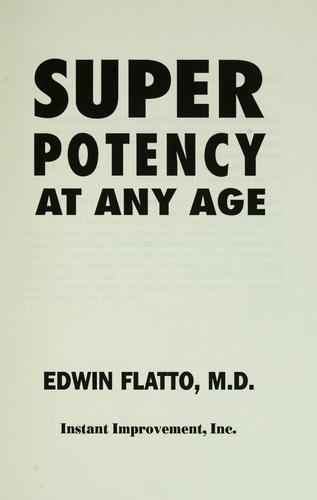 Download Super potency at any age