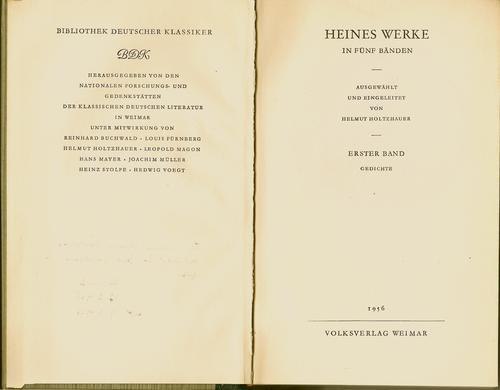 Heines Werke