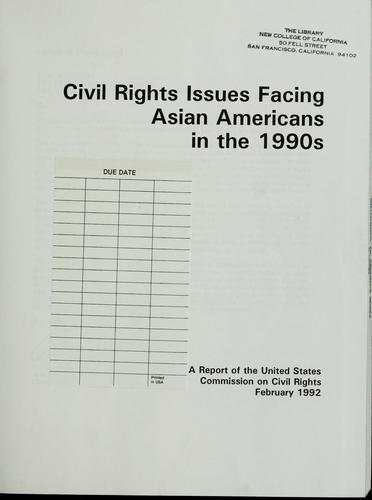 Civil rights issues facing Asian Americans in the 1990s