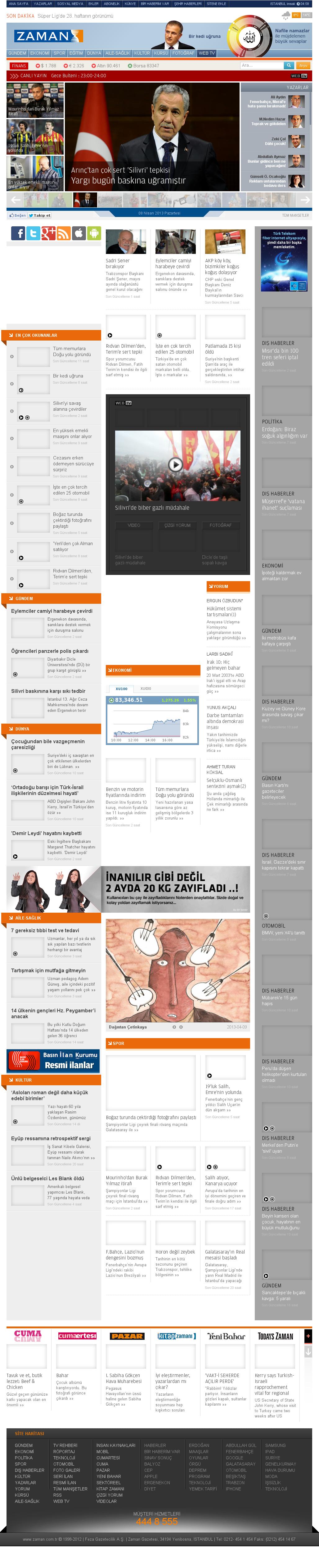 Zaman Online at Monday April 8, 2013, 8:42 p.m. UTC