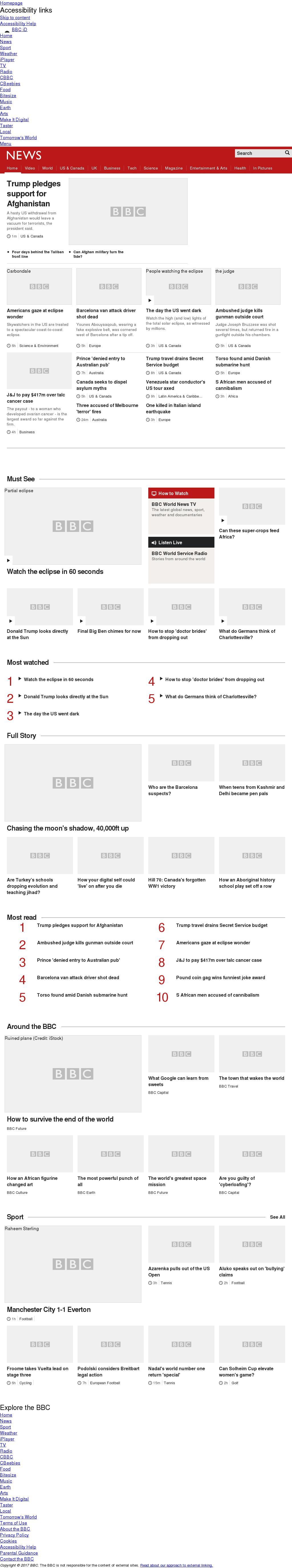 BBC at Tuesday Aug. 22, 2017, 2 a.m. UTC