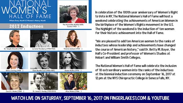 WEBCAST REPLAY: 26th National Women's Hall of Fame Induction