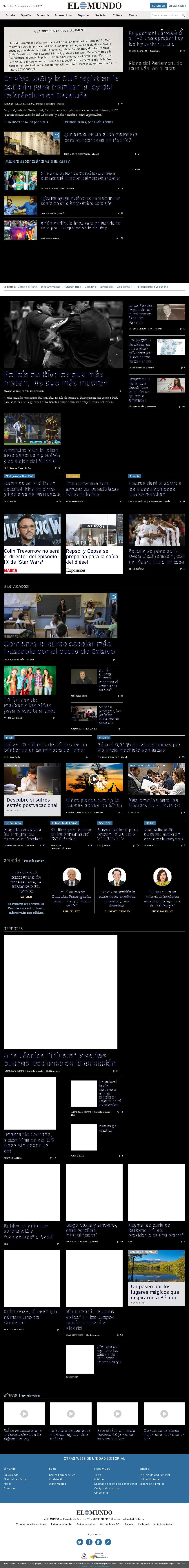 El Mundo at Wednesday Sept. 6, 2017, 8:09 a.m. UTC
