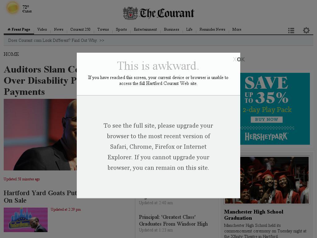 Hartford Courant at Wednesday June 17, 2015, 5:12 p.m. UTC