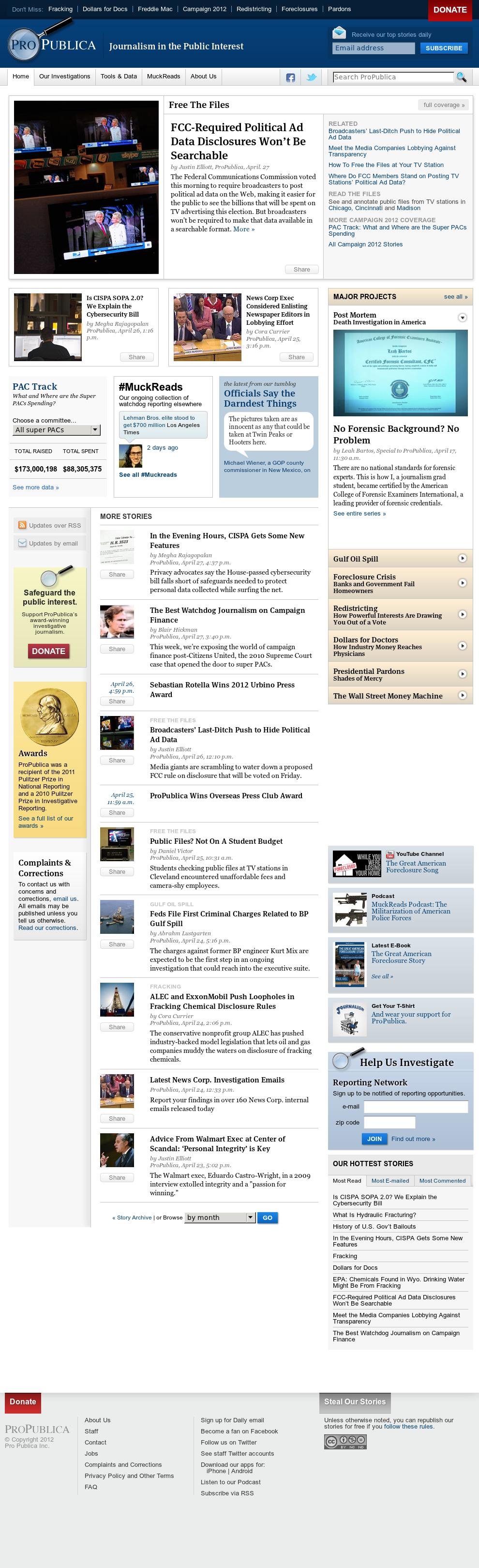 ProPublica at Sunday April 29, 2012, 10:18 p.m. UTC