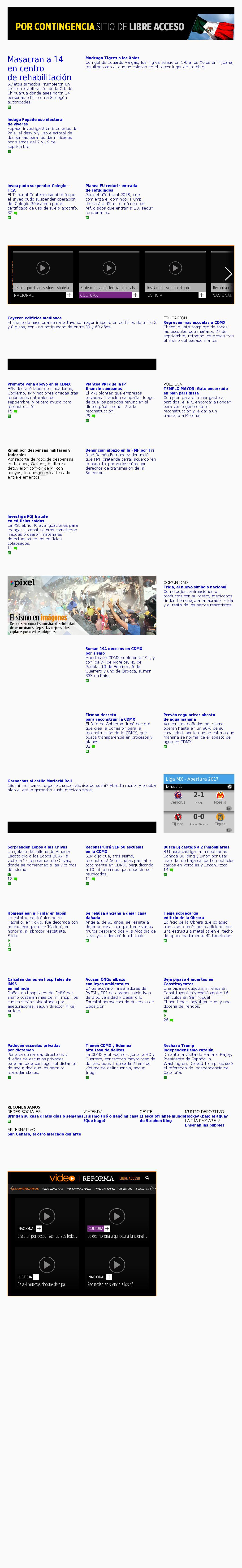 Reforma.com at Wednesday Sept. 27, 2017, 7:20 a.m. UTC