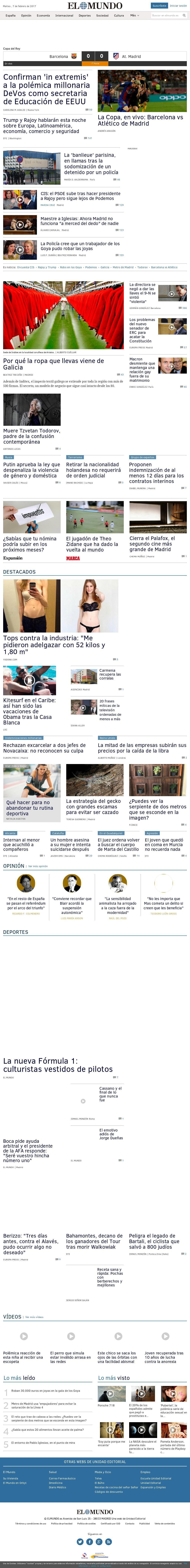 El Mundo at Tuesday Feb. 7, 2017, 8:12 p.m. UTC