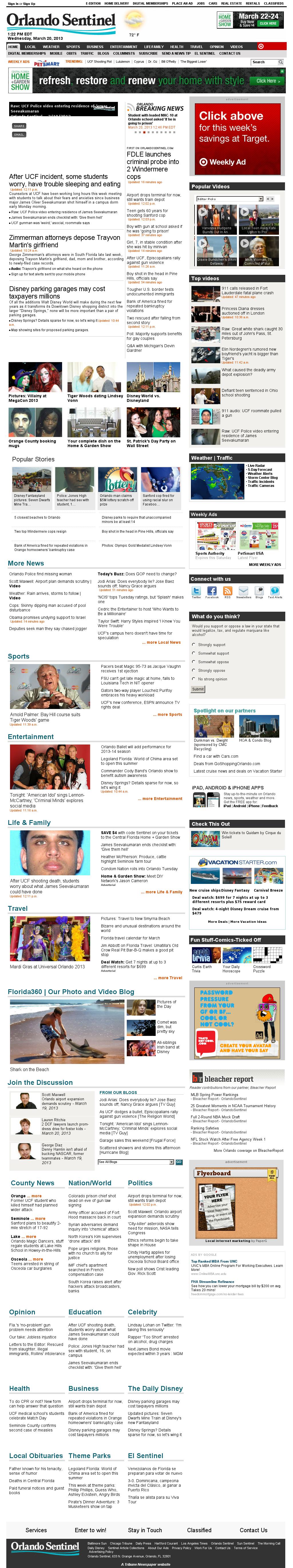 Orlando Sentinel at Wednesday March 20, 2013, 5:22 p.m. UTC