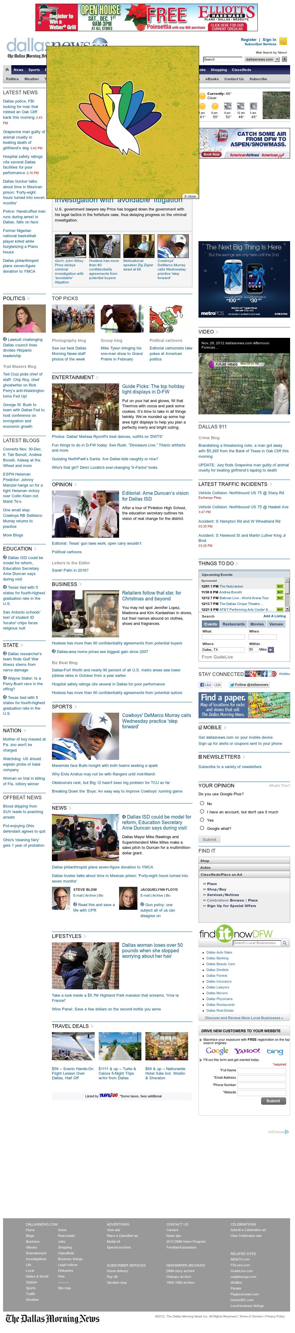 dallasnews.com at Wednesday Nov. 28, 2012, 10:06 p.m. UTC