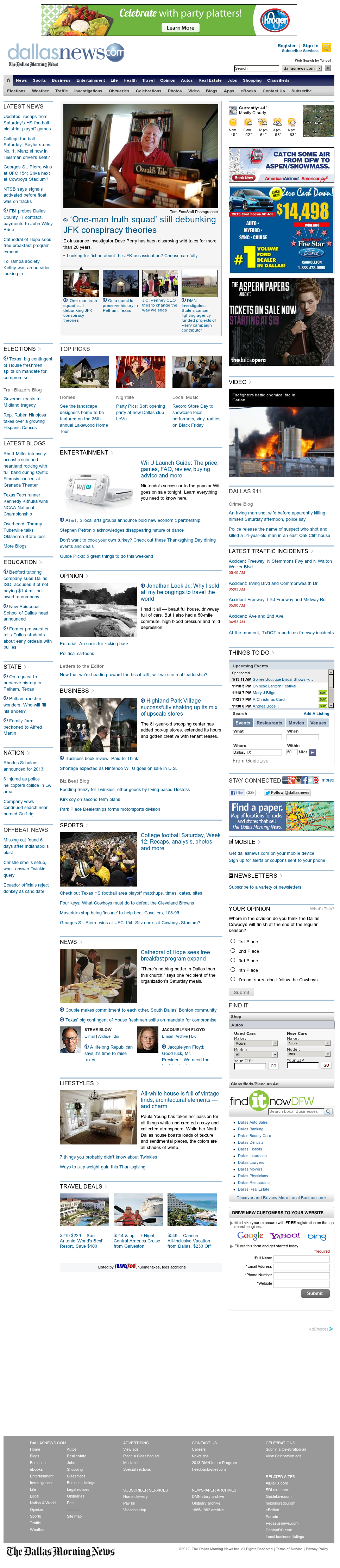 dallasnews.com at Sunday Nov. 18, 2012, 12:05 p.m. UTC