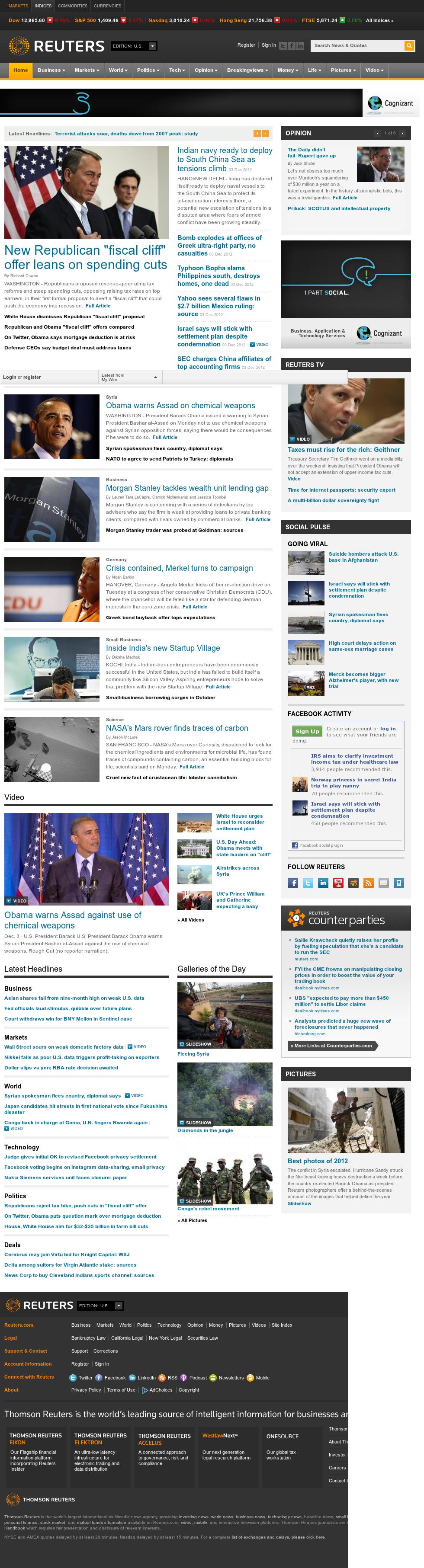 Reuters at Tuesday Dec. 4, 2012, 5:31 a.m. UTC