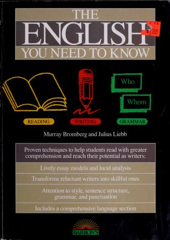 Cover of: The English you need to know | Murray Bromberg