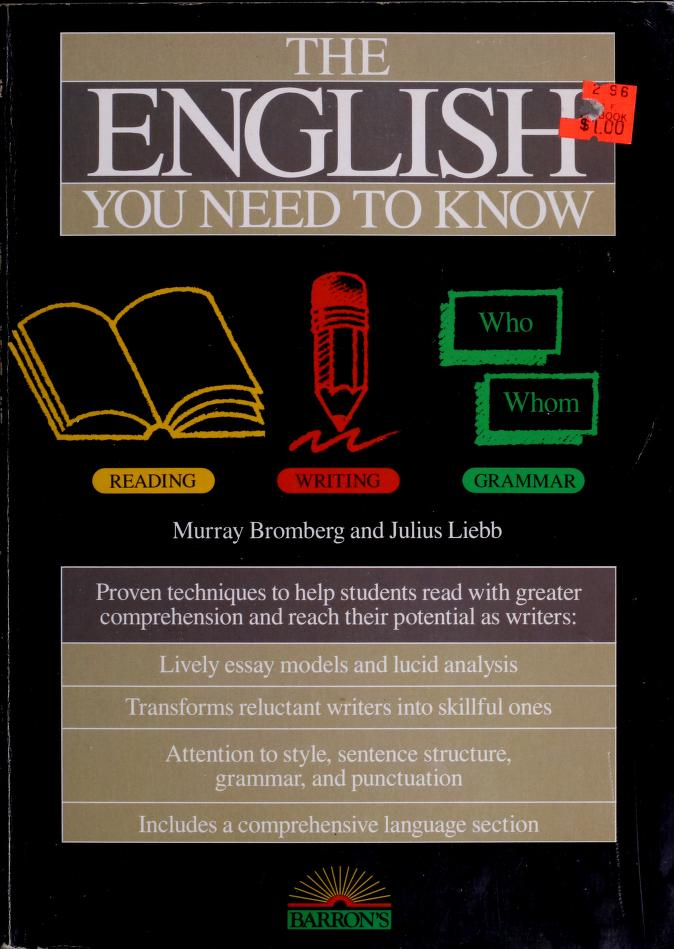 The English you need to know by Murray Bromberg