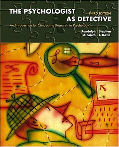 The Psychologist as Detective
