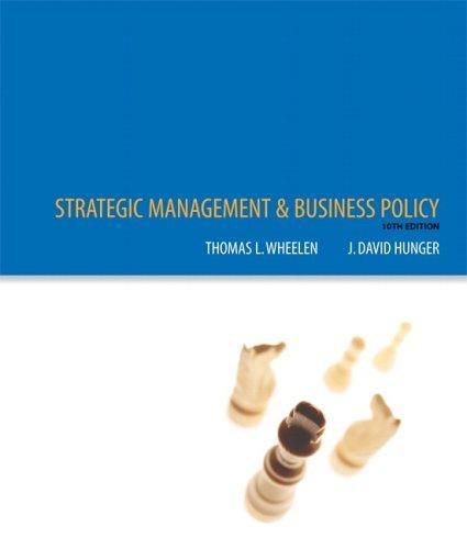 Strategic management and business policy by Thomas L. Wheelen