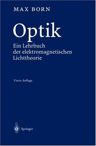 Optik by Max Born