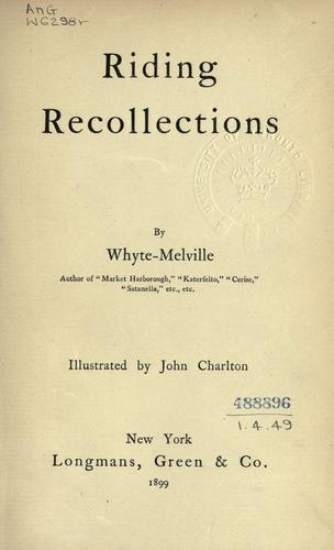 Riding recollections