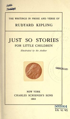 The  writings in prose and verse of Rudyard Kipling by Rudyard Kipling