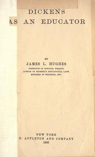 Dickens as an educator.