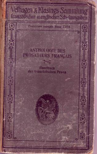Anthologie des prosateurs français contemporains .... (1850 à nos jours) by Georges Pellissier