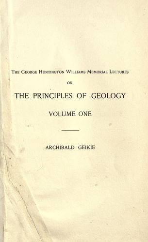 The founders of geology by Archibald Geikie