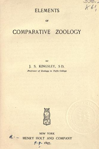 Elements of comparative zoology.