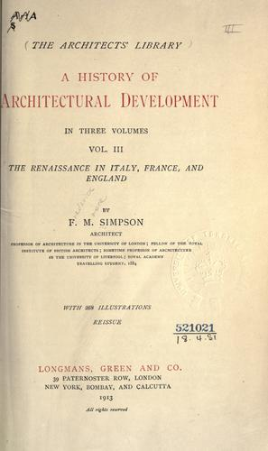 A history of architectural development.