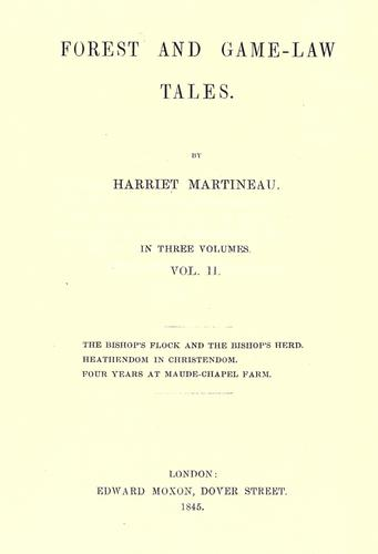 Forest and game-law tales by Martineau, Harriet