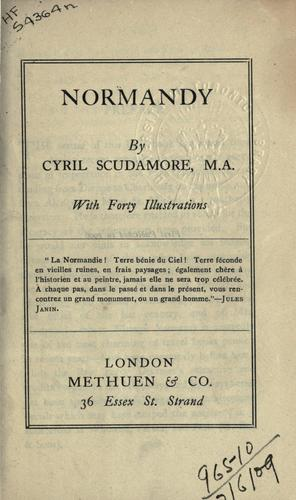 Normandy by Cyril Scudamore