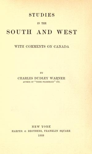 Studies in the South and West