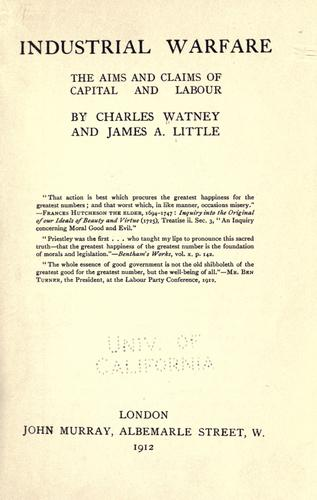 Industrial warfare by Charles Watney