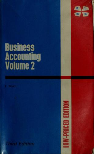 Business accounting by Frank Wood