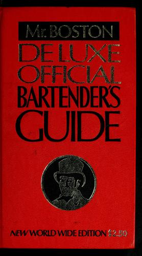 Deluxe official bartender's guide by