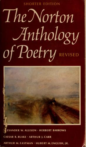 The Norton anthology of poetry.  Shorter edition by