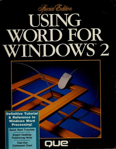 Using Word for Windows 2 by Ron Person
